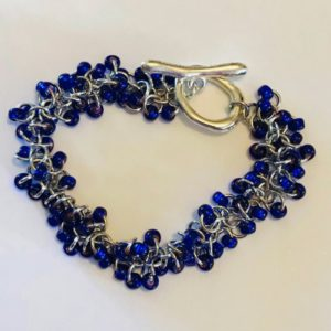 Royal Blue and Silver Bracelet