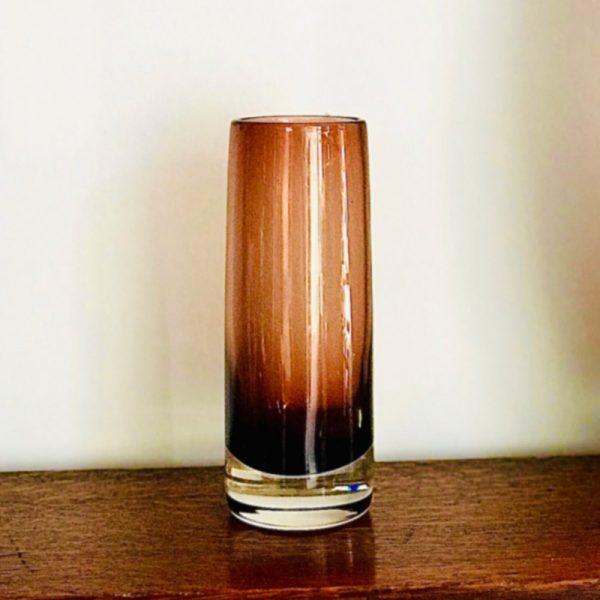 Brown Mid Century Glass Vase