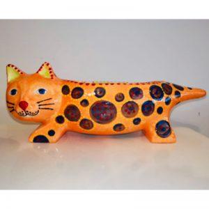 Hand Painted Ceramic Cat