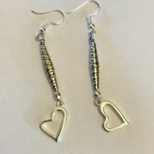 Drop Heart Earings
