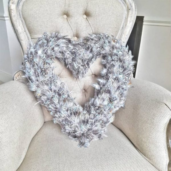 Grey Feather Heart