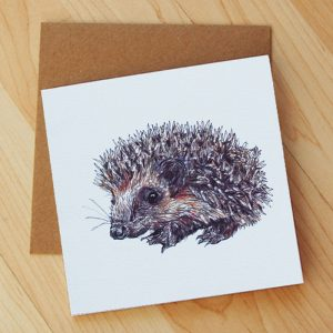 Hedgehog-Blank-Card