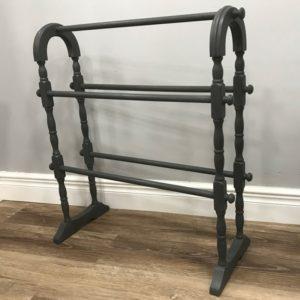 Vintage Grey Painted Towel Rail