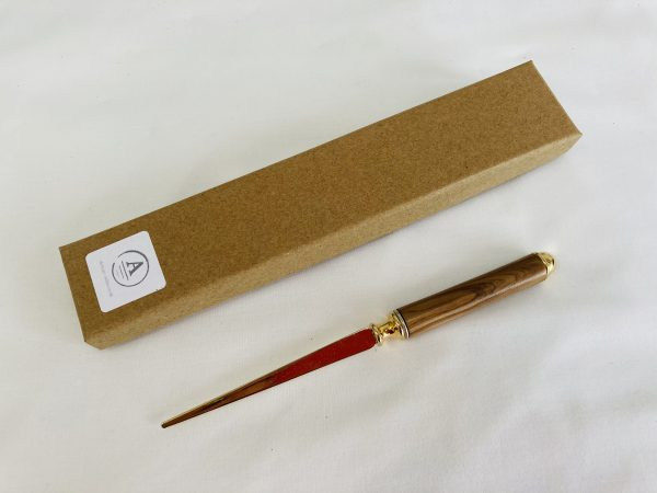Wooden and Brass Letter Opener