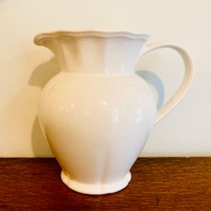 Large White China Jug