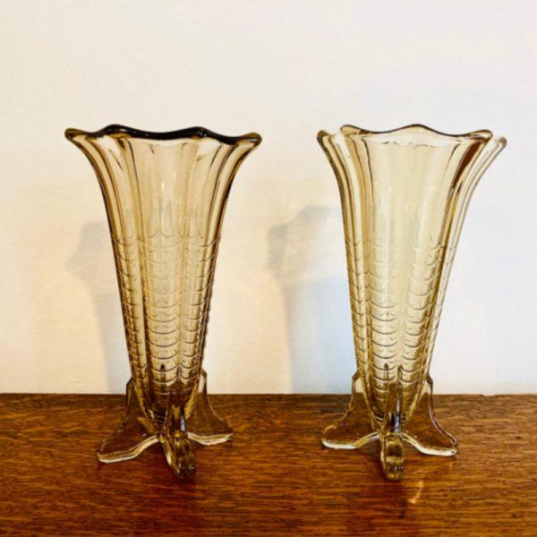 Pair of Amber Vases