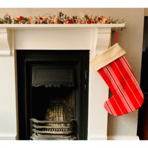 Red and White Stripy Stocking