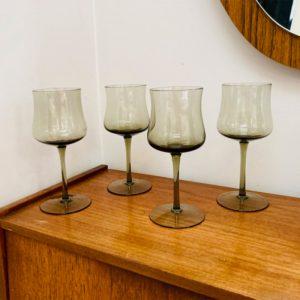Vintage Smoked Wine Glasses