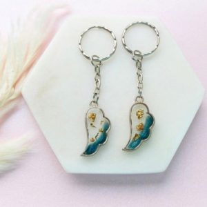 angel wings key chains
