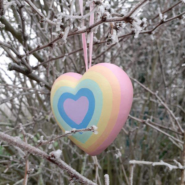Rainbow Ceramic Heart