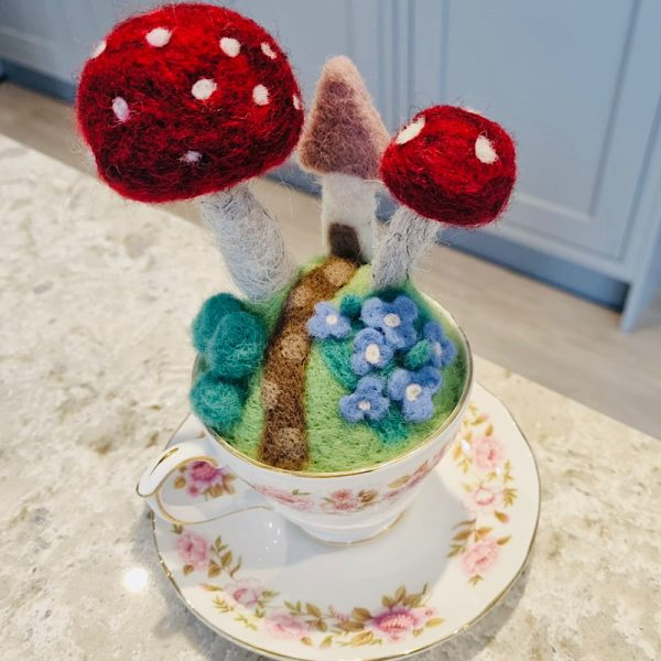 Needle Felted Pin Cushion
